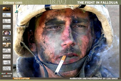 The eyes of a soldier at war