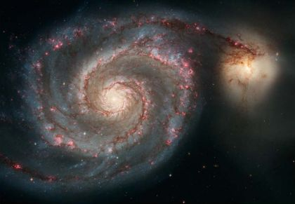 Whirlpool galaxy and companion